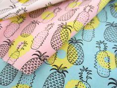 ▲綿(コットン) - 商品詳細 オックスプリント パイナップル 110cm巾/生地の専門店 布もよう