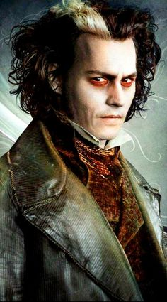 Johnny Depp as Sweeny Todd in Sweeny Todd: The Demon Barber of Fleet Street