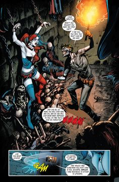 Harley Quinn is chained to the wall by Joker in Suicide Squad #15