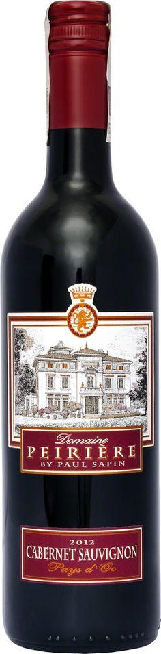 Domaine Peirière Cabernet Sauvignon Pays D'OC We Francji to langwedockie wino cieszy się dużą popularnością, szybko zdobywa uznanie konsumentów w innych krajach. Wino monoszczepowe z odmianyCabernet Sauvignon, klasyczny przykład francuskiego wina z tej odmiany w typowej stylistyce. Warto! Aromat jest delikatny, owocowy z czarną porzeczką i lekko pieprznymi niuansami.  #Winezja #Langwedocja #Cabernet #Wino Saint Chinian, Cabernet Sauvignon, Sauce Bottle, Whiskey Bottle, Drinks, Beverages, Drink, Beverage, Drinking
