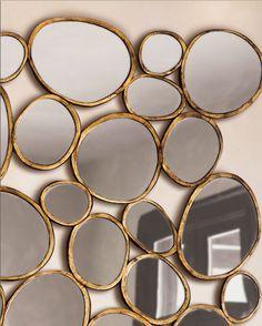 decorar paredes espejos circulares                              …