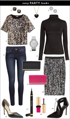 How to Add a Little Sparkle to your Holiday Outfit with Sequin Top and Skirt for a Budget what to wear to holiday party on budget, seq. Holiday Party Outfit, Holiday Outfits, Holiday Parties, Christmas Party Wear, Winter Outfits, Sequin Top, Sequin Skirt, Sparkle Skirt, New Years Eve Outfits