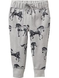 Patterned Fleece Joggers for Baby