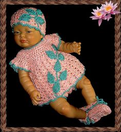 baby dress crochet baby dress baby outfit by MimisCrochetDen