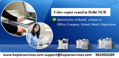 Are you not satisfied with the services provided by the #photocopier #rental company then it's the right time to opt for new company and avail best services with discounts. http://www.kopierservices.com/photocopier-on-rent-delhi.html