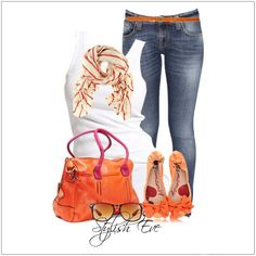 CHATA'S DAILY TIP: Summer is the time for your standard jeans and white tee – but why not spice it up a bit? Add gorgeous accessories in delicious summer colours, like tangerine, hot pink or bright yellow, and your basic outfit is instantly transformed into a chic casual look. COPY CREDIT: Chata Romano Image Consultant, Marlise du Plessis http://chataromano.com/consultant/marlise-duplessis/ IMAGE CREDIT: Stylish Eve