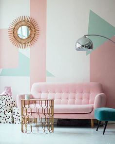 Do not waste your time by remodeling the old look in your living room. Apply the pastel living room interior design ideas here. Contemporary Floor Lamps, Modern Floor Lamps, Modern Lighting, Lighting Ideas, Modern Couch, Lighting Design, Living Room Interior, Living Room Decor, Bedroom Decor