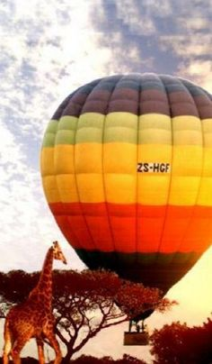 baloon ride over Kruger Park- South Africa