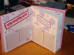 My First Card Organizer - inside by kimreid_stamper - Cards and Paper Crafts at Splitcoaststampers Card Organizer, Organizers, Paper Crafts, Bullet Journal, Organization, Cards, Getting Organized, Organisation, Planners