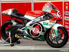 Simoncelli's world championship 250cc Gilera (really an Aprilia re-badged)