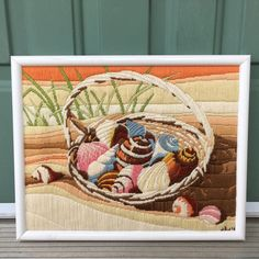 Framed Sea Shell Picture 15 x 12