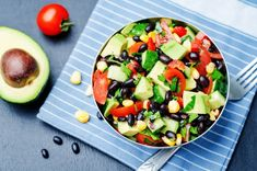 30 Cheap Lunch Tips and Ideas To Save Cash Cucumber Tomato Salad, Fruit Salad, Cobb Salad, Black Bean Corn, Prepped Lunches, Avocado, Food And Drink, Healthy Recipes, Healthy Food