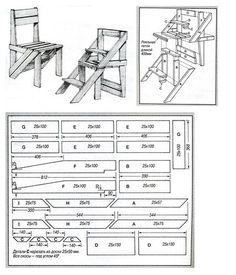 Fotos auf der Pinnwand der Community Diy Outdoor Furniture, Furniture Projects, Furniture Plans, Wood Furniture, Amish Furniture, Wooden Pallet Projects, Woodworking Projects Diy, Woodworking Plans, Ladder Chair