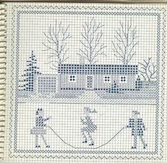 Gerda Bengtsson - Cross-stitch agenda 1962 - rétro Vintage - MAINS CREATIVE - Editeur - LIGNES DE VIE