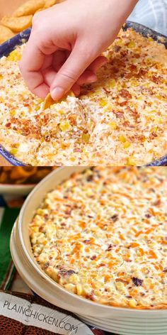 Cracked Out Corn Dip - OMG! Corn cream cheese sour cream cheddar bacon and Ranch. I took this to a party and it was the first thing to go! Can make ahead and refrigerate until ready to eat. Our FAVORITE dip! YUM Cracked Out Corn Dip Recipe Corn Dip Recipes, Mexican Food Recipes, Yummy Recipes, Cooking Recipes, Yummy Food, Easter Recipes, Healthy Dip Recipes, Cheese Dip Recipes, Bacon Recipes