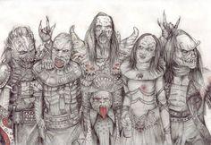 Lordi - all together by NightFlame666.deviantart.com on @DeviantArt