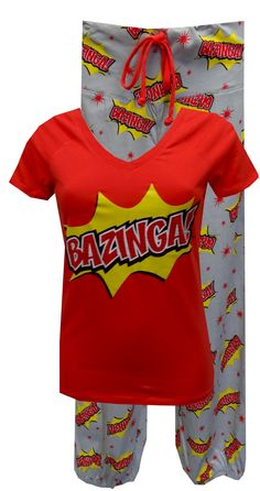 The Big Bang Theory Bazinga Pajama Set $30-Someone needs to get me these!!!!