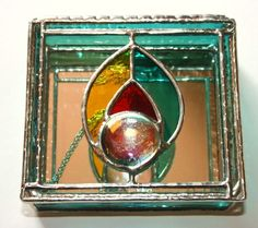 Handmade Stained Glass Jewelry Box by SunshineCrafts on Etsy, $45.00