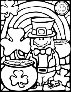 Rainbow Coloring Page Kids Dream Of Rainbows With Pots Gold At