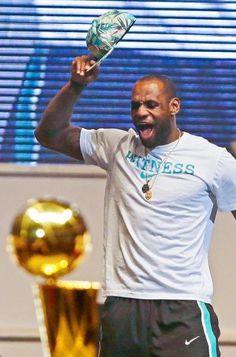NBA champion Miami Heat small forward LeBron James