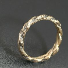 NARROW TWISTED TWIGS Band. Delicate 3mm width. by BandScapes