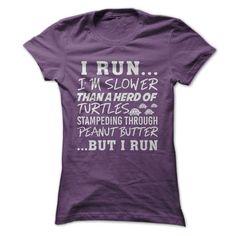 I run T Shirts, Hoodies. Check price ==► https://www.sunfrog.com/Sports/I-run-Purple-16199817-Ladies.html?41382