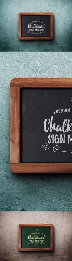 Chalkboard Sign PSD Mockup Template