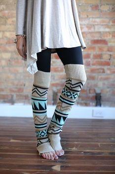 Aztec Leg Warmers