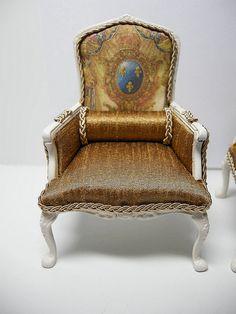 DSCN4207 | JBM Arm Chair Set, upholstered by Ken@JBM | Ken Haseltine Regent Miniatures | Flickr