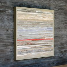 Modern Rustic Wood Art Distressed Abstract, 25 x 25, Available. $385.00, via Etsy.