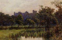 Arundel Castle by Edward Seago-Oil Painting