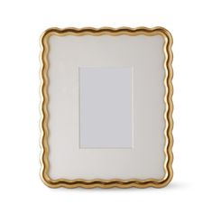AERIN Wave Gallery Wall Frame | Williams Sonoma Gallery Wall Frames, Frames On Wall, Maid Of Honour Gifts, Maid Of Honor, Aerin Lauder, Organic Shapes, Paint Finishes, Gold Paint, Interior Inspiration