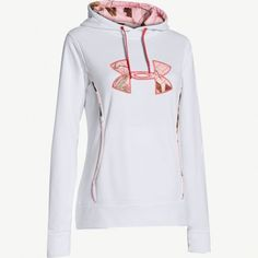 #New Women's Under Armour White Storm Hoodie in Realtree Pink Camo. $64.99  #Realtreecamo