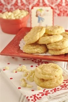 White Chocolate Snickerdoodle... who knew you could change the snickerdoodle?? I LOVE snickerdoodles AND chocolate!