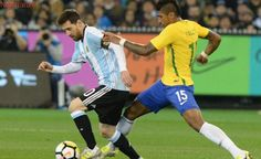 Messi's Argentina down Brazil in Australian 'Superclasico'