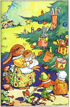 Johnny Gruelle - Christmas tree--this would be such a cute card!!