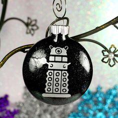 Dalek Doctor Who Christmas Holiday Ornament by GlassBlastedArt, $7.00