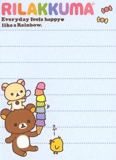 "https://flic.kr/p/shmgdm   San-X Rilakkuma ""Rainbow"" Mini Memo"