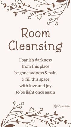 A spell to help cleanse your room from bad energy