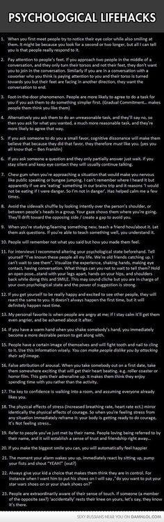 Psychological Lifehacks To Give You An Advantage - Damn! LOL