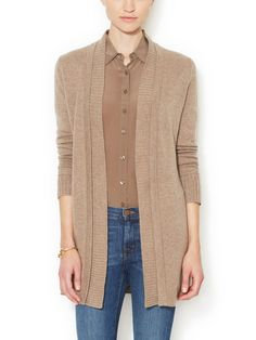 Cashmere Rib Trimmed Cardigan by Magaschoni at Gilt