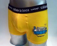 Boxer Cállate la boca ghost furgo surf - ENVÍO 24/48h - ref: 46816 YELL - Boxer en tono gris con el dibujo de un fantasma en la pierna. Tu ropa interior masculina en Varela Íntimo. #calzoncillos #hombre #modahombre #ropainterior http://www.varelaintimo.com/marca/5/callate-la-boca