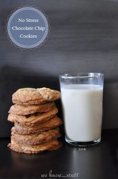 I really like making my kids cookies from scratch and I love that these are completely fuss-free. Plus, my kids love them! No Stress Chocolate Chip Cookies, www.weknowstuff.us.com