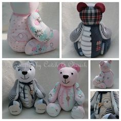 Baby Clothes Memory Bears › Cwtch & Cherish ‹ Handmade keepsake memory bears Cardiff
