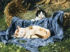 Julius Adam - Two Kittens
