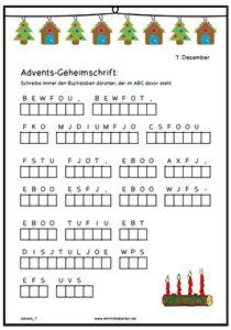 Lesetexte, Rätsel, Weihnachtskrimi etc ... als Adventskalender