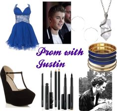 """""""Prom with Justin Bieber"""" by mahalakendall ❤ liked on Polyvore"""