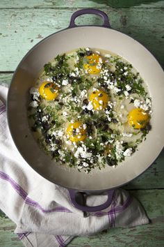 greek_baked_eggs: I've been super excited to have this and it did not disappoint. I made this for breakfast on for my husband and I. Eliminated the olives and added a touch of Greek seasoning. Greek Recipes, Real Food Recipes, Healthy Recipes, Breakfast Time, Breakfast Recipes, Ways To Cook Eggs, Greek Seasoning, Baked Eggs, I Love Food