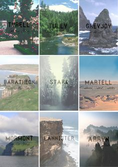 A Song of Ice and Fire. What the lands owned by each major family would look like.
