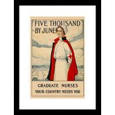 Found it at Wayfair - Five Thousand by June Framed Vintage Advertisement